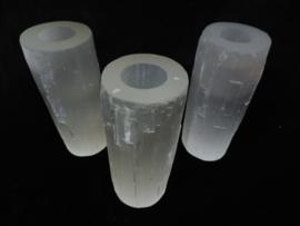 Seleniet Theelicht cilinder wit groot