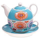 Tea for One Mandala blauw set