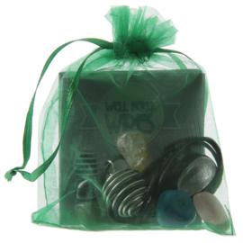 Maak je eigen edelsteen ketting Kit / zakje groen