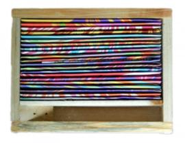MF houten probeer doosje 21x4 stokjes + houder