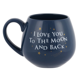 I LOVE YOU TO THE MOON EN BACK CERAMIC MOK