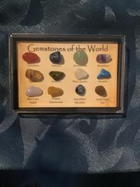 Verzameling gemstones of the world 15 stenen 8-10 mm