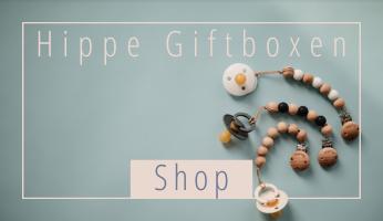 Met onze Hippe Baby Giftboxen vind je altijd een origineel kraamcadeau in trendy kleuren!