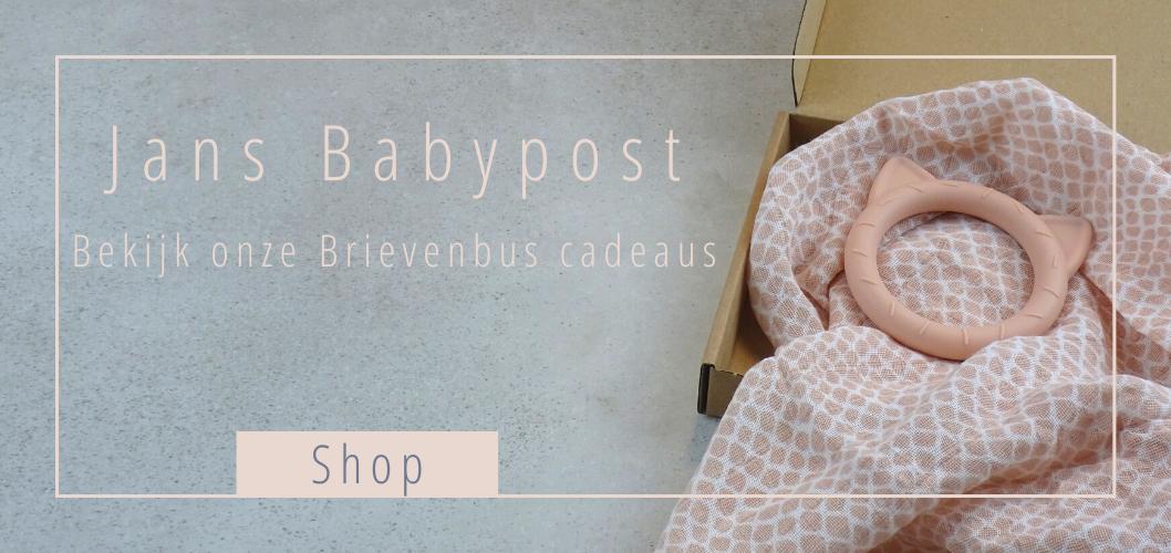 Jans Babypost, het originele brievenbus kraamcadeau!