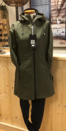 Army green softshel jas