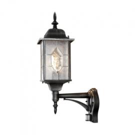 wandlamp Milano sensor 75W 230V aluminium 53 cm zwart