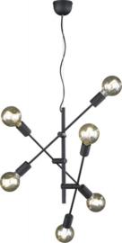 hanglamp Cross 150 cm staal zwart