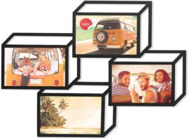 fotolijst Tratto 3D 40,6 x 52,6 hout zwart
