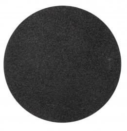 placemat glitter 38 cm polyester zwart
