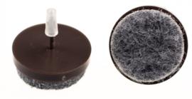 Viltnagel Ø24mm nylon bruin 16 stuks