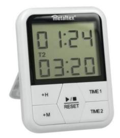 digitale timer magnetisch 11 x 8 cm wit