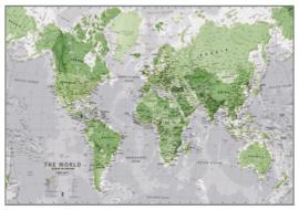 wereldkaart Glow-in-the-Dark 84 cm papier groen