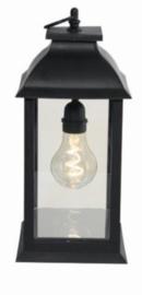 sfeerlamp A60 led 1,5V 14 x 28 cm glas zwart
