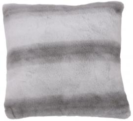 kussen strepen 45 x 45 cm polyester grijs