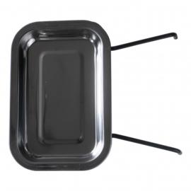 voedselschaatjes 23 cm RVS 870 gram zwart 3 stuks