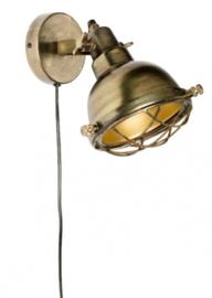 wandlamp Evan 19,5 cm staal goud