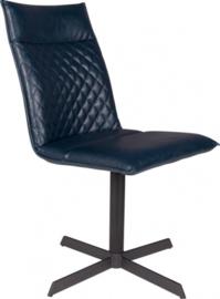 stoel Ivar 89,5 cm staal/kunstleer donkerblauw/zwart