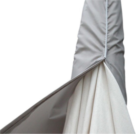 parasolhoes 135 cm polyester grijs