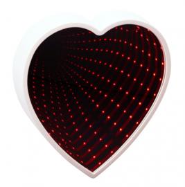 spiegel hart oneindig led 22 cm wit