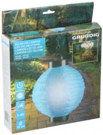 lampion solar ledverlichting Ø20 blauw