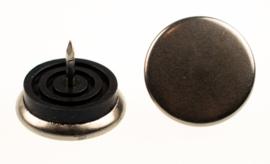 Glijnagel ø20mm staal rubber zilvergrijs 4stuks
