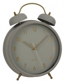 klok Buzz 23,5 x 30,5 cm ijzer grijs
