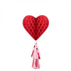 honeycomb met franjestaart liefde Valentijnsdag 55 cm
