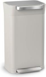 afvalemmers Totem 30 liter RVS grijs/zilver