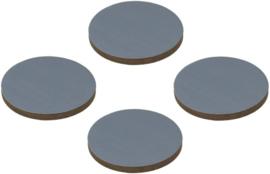 viltdoppen rond 5 cm grijs 4 stuks