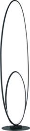 vloerlamp Avus 112 cm led staal/acryl 3 kg matzwart/wit