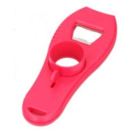 flesopener multifunctioneel 15,5 cm polypropyleen rood
