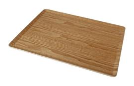 dienblad 28 x 36 cm hout bruin