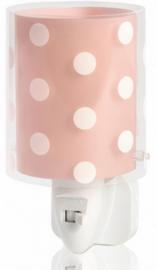 nachtlampje Stippen junior wit/roze 230V