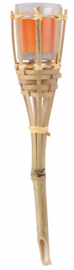 citronellakaars bamboe - insectenwerend - 65 mm oranje