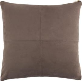 kussen Mace 45 x 45 cm polyester bruin
