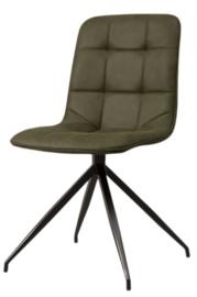 stoel Lazy 53 x 86 cm microfiber groen
