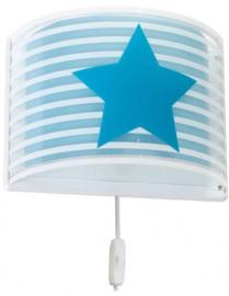 wandlamp Sterretje junior 24,5 x 31 cm wit/blauw