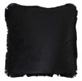 kussen 40 x 40 cm fluweel zwart
