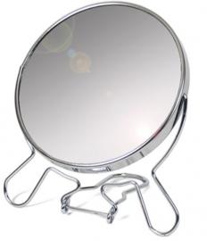 opmaakspiegel 13 cm glas/staal zilver