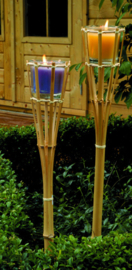 fakkel citronella 76 cm bamboe/wax beige/groen