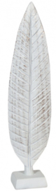 beeld veer 12 x 51 cm polyresin wit
