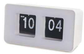 bureauklok flip-klok 9,35 x 17,6 cm ABS wit