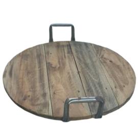 dienblad steigerhout metalen greep maat S