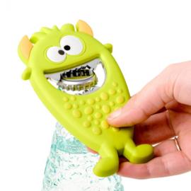 flesopener monster 12,5 cm PVC groen