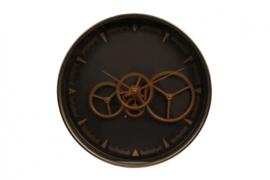 klok Paul 36 x 6,5 cm staal brons/zwart