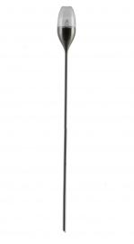 verlichting Candle torch solar 8,5 x 112,7 cm RVS zilver