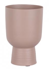 bloempot Score 16 x 10,5 cm ijzer roze