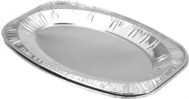 serveerschalenset aluminium 35 x 23,5 x 1 cm 2 stuks zilver
