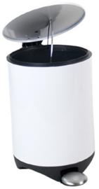 afvalemmer 21 x 20 x 30 cm staal wit 5 liter