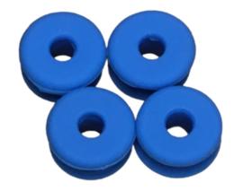 antislipdoppen 2 cm siliconen blauw 4 stuks